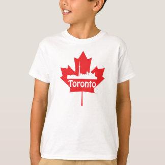 Horizonte y hoja de arce de Toronto Playera