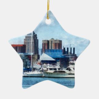 Horizonte y puerto de Baltimore Ornamentos Para Reyes Magos