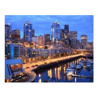 Horizonte y puerto, estado de Seattle de Postal