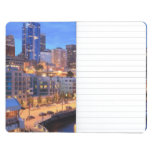 Horizonte y puerto, estado de Seattle de Washingto Cuadernos Grapados
