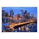 Horizonte y puerto, estado de Seattle de Washingto Tarjeta De Felicitación