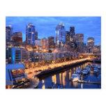 Horizonte y puerto, estado de Seattle de Washingto Tarjeta Postal