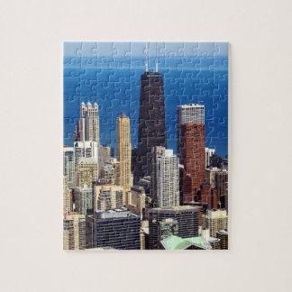 Horizonte y señales de Chicago Rompecabeza Con Fotos