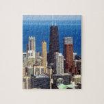 Horizonte y señales de Chicago Puzzles Con Fotos