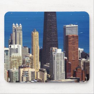 Horizonte y señales de Chicago Tapetes De Raton