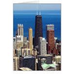 Horizonte y señales de Chicago Tarjeta De Felicitación