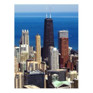 Horizonte y señales de Chicago Postales