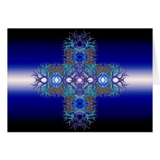 Horizontes coloridos tarjeta de felicitación