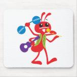 Hormiga de Adán de los animales de ABC Alfombrillas De Ratón