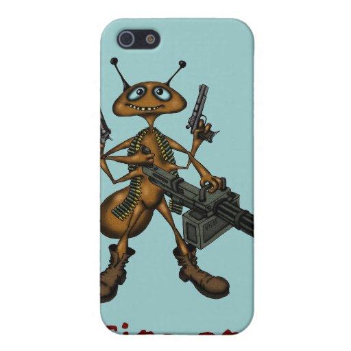Hormiga de fuego divertida con la caja del teléfon iPhone 5 coberturas