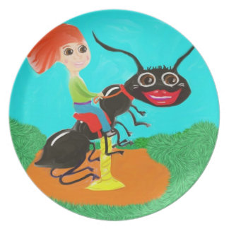 Hormiga del carrusel plato de comida