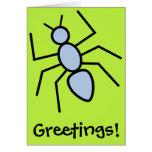 Hormiga del vector del azul de cielo (fondo del felicitacion