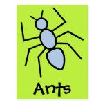 Hormiga del vector del azul de cielo (fondo del postal