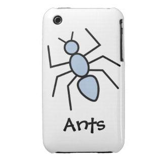 Hormiga del vector del azul de cielo iPhone 3 Case-Mate fundas