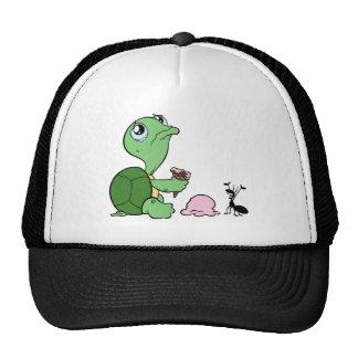 Hormiga feliz de la tortuga triste gorros bordados