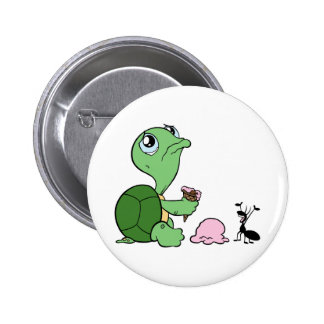 Hormiga feliz de la tortuga triste pin