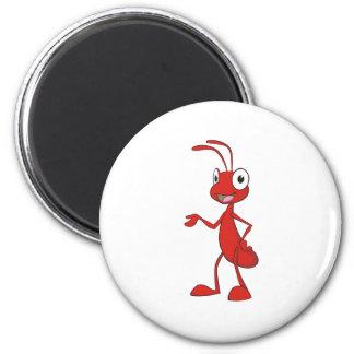 Hormiga feliz del dibujo animado iman de frigorífico