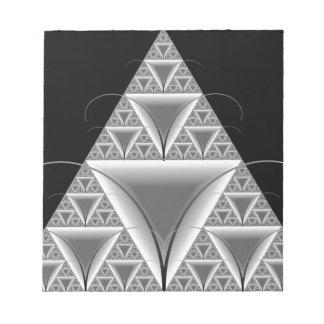 Hormiga hermosa de Mecho del fractal del triángulo Blocs De Notas