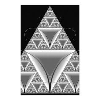 Hormiga hermosa de Mecho del fractal del triángulo Papelería Personalizada