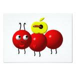 Hormiga linda con la manzana invitación 12,7 x 17,8 cm