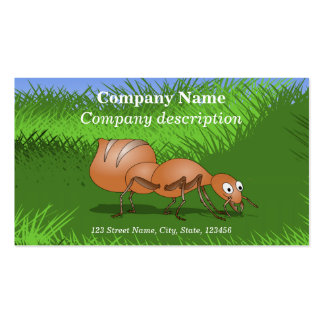 Hormiga linda del dibujo animado tarjetas de visita