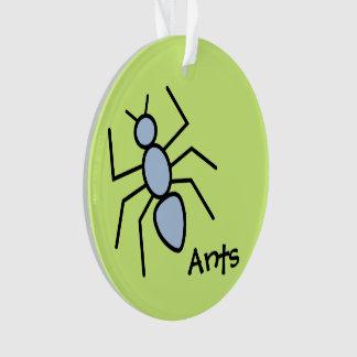 Hormiga linda del vector del azul de cielo (fondo