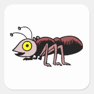 Hormiga Pegatinas Cuadradases Personalizadas