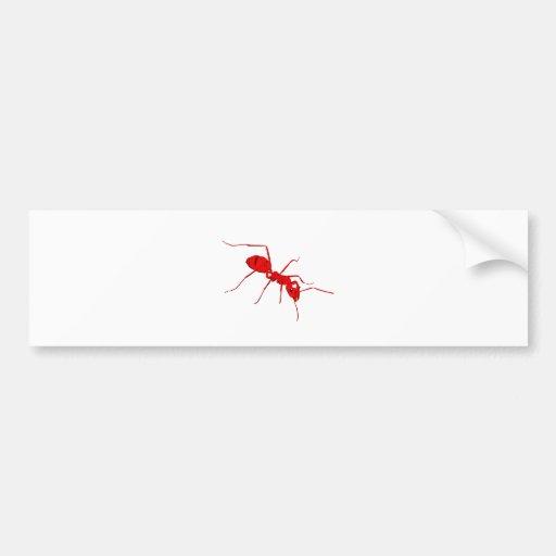 Hormiga Pegatina De Parachoque