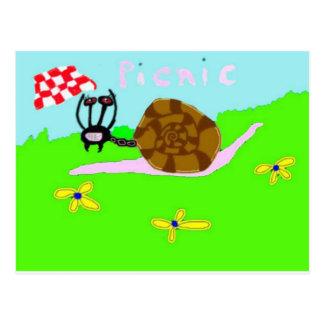 Hormiga Phoebe del caracol Tarjetas Postales