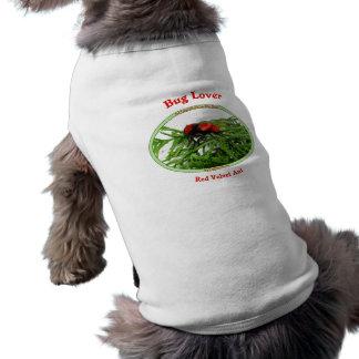 Hormiga roja del terciopelo del amante del insecto playera sin mangas para perro