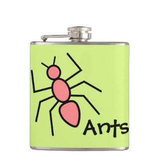 Hormiga roja del vector de la amapola linda (fondo