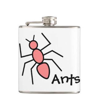Hormiga roja del vector de la amapola linda