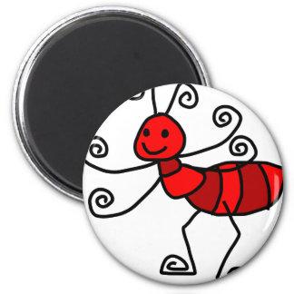 Hormiga roja imán redondo 5 cm