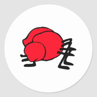 Hormiga roja pegatina redonda