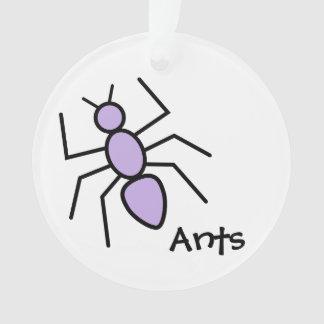 Hormiga violeta linda del vector