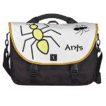 Hormigas amarillas y negras del vector bolsa de ordenador