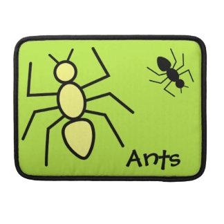Hormigas amarillas y negras del vector - fondo del funda para macbooks