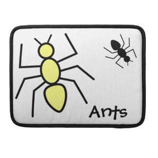 Hormigas amarillas y negras del vector funda macbook pro