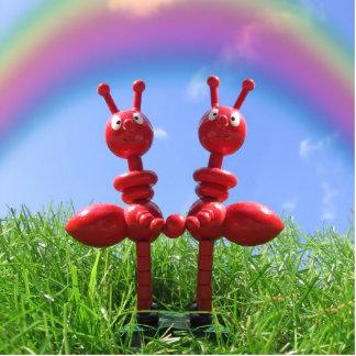 Hormigas en la hierba escultura fotografica