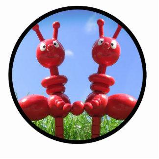 Hormigas en la hierba esculturas fotográficas
