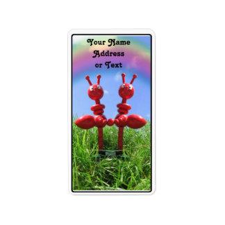 Hormigas en la hierba etiquetas de dirección