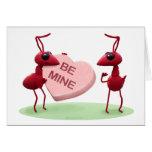 Hormigas lindas del día de tarjetas del día de San