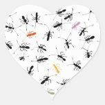 Hormigas por todas partes calcomania corazon personalizadas