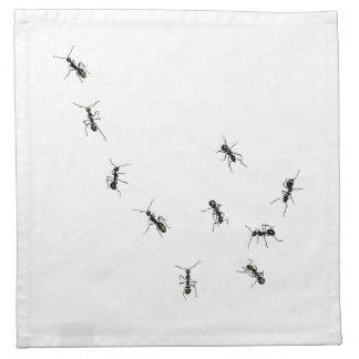 hormigas que marchan servilleta de papel