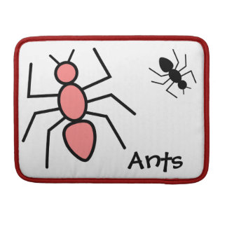 Hormigas rojas y negras de la amapola del vector funda macbook pro