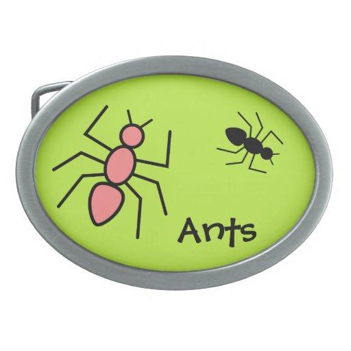 Hormigas rojas y negras de la amapola del vector ( hebillas de cinturón