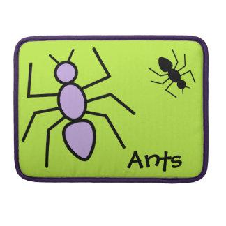 Hormigas violetas y negras del vector - fondo del funda para macbook pro