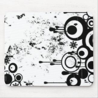 Hormigas y círculos - negro y blanco tapete de raton