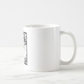 Hormigas y círculos - negro y blanco tazas de café