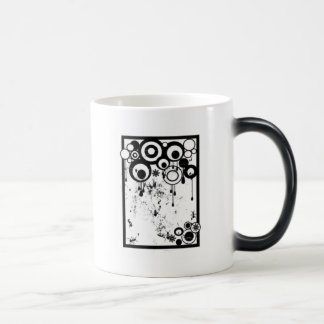 Hormigas y círculos - negro y blanco taza de café